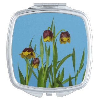Pretty Fritillary Flowers Compact Mirror