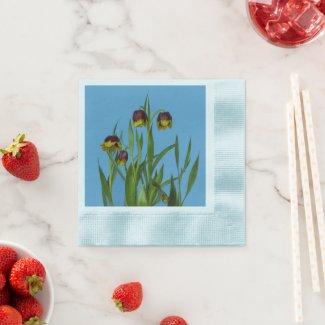 Pretty Fritillary Flowers Paper Napkins