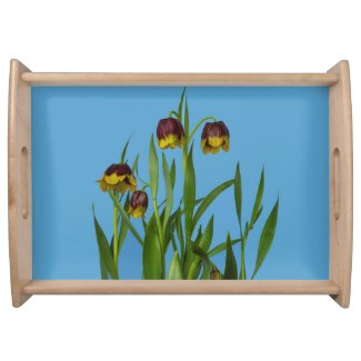 Pretty Fritillary Flowers Serving Tray