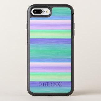Pretty Fun Summery Watercolor Stripes Pattern OtterBox Symmetry iPhone 8 Plus/7 Plus Case