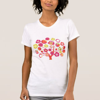 Pretty funky bright pink & yellow blossoms tree T-Shirt