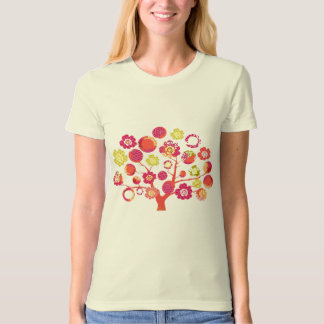 Pretty funky pink Japanese blossom tree of life T Shirts