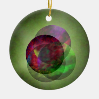 Pretty Galaxy Double-Sided Ceramic Round Christmas Ornament