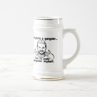 Pretty Gangster Myself 18 Oz Beer Stein