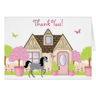 Pretty Garden Horse Thank You Cards! Card
