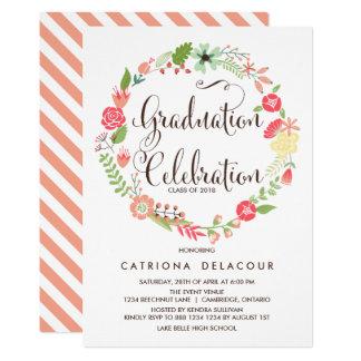 pretty graduation invitations announcements zazzle co uk