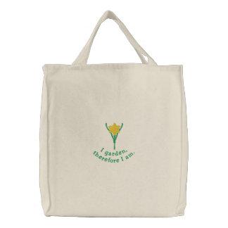 Pretty Gardener s Embroidered Tote Bag