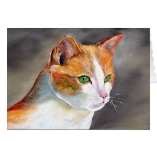 Pretty ginger cat (a348) card