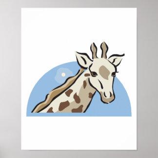 pretty giraffe head design poster