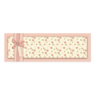 Pretty Girl Floral Skinny Gift Tag Business Cards