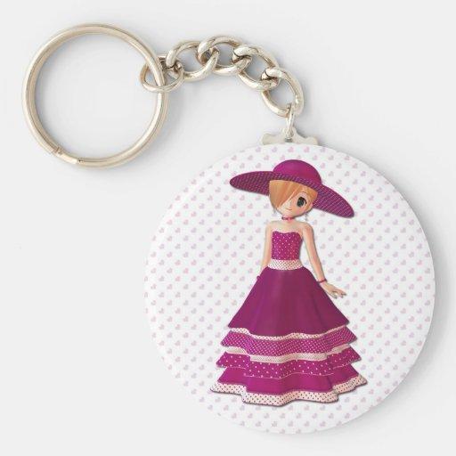 Pretty Girl Keychain