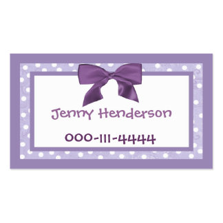 Pretty Girl s calling card Business Cards