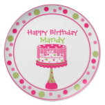 Pretty Girl's Birthday Plate