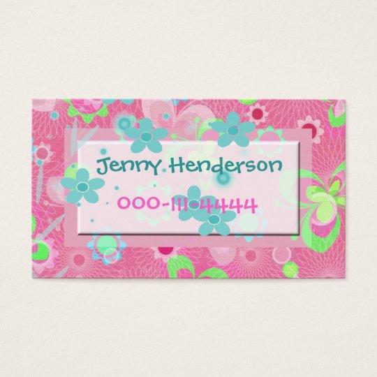 Pretty Girl's calling card