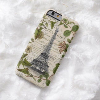 pretty girly chic i love paris eiffel tower barely there iPhone 6 case