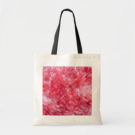 Pretty Girly Fuzzy Fluffy Canvas Bag