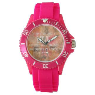 pretty girly pink watch