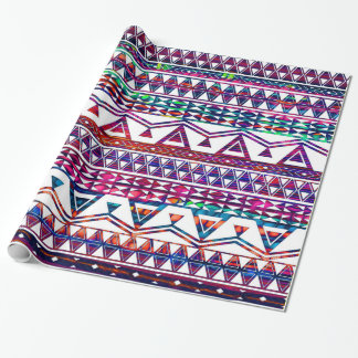 Pretty Girly Tribal Aztec Design Wrapping Paper