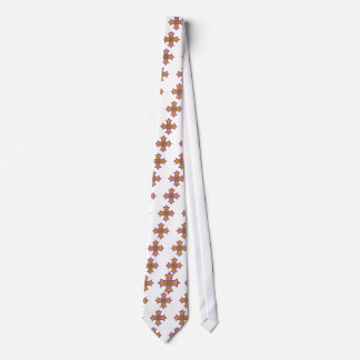 Pretty Gold and Pink Coptic Cross Tie