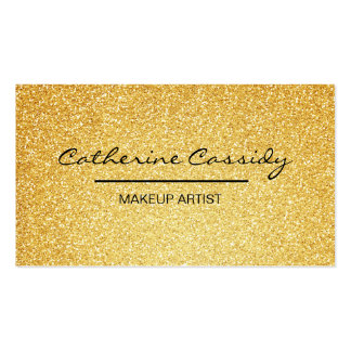 Pretty Gold Glitter Sparkle, Makeup Artist Pack Of Standard Business Cards