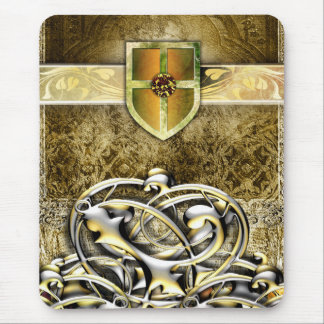 Pretty Gold Medieval Ancient Lore Metal Vines Mouse Pad