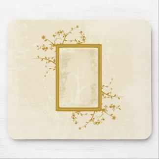 Pretty Golden Vines Mouse Pad
