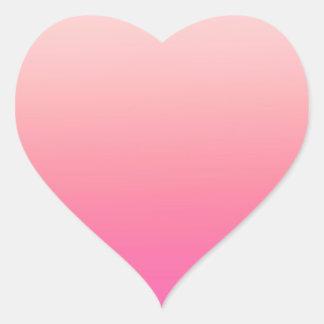 Pretty graduating pink heart heart sticker