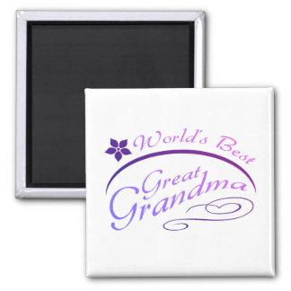 Pretty Great Grandma Gift (purple) Square Magnet