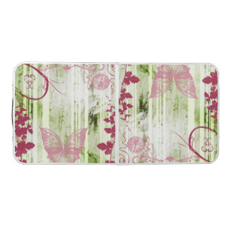 Pretty Green and Magenta Butterfly Pong Table