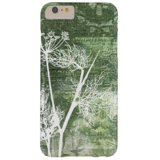 Pretty Green and White Dandelion Seeds Vintage Barely There iPhone 6 Plus Case