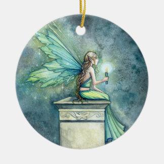 Pretty Green Fairy Ornament