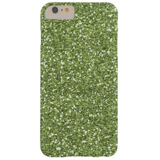 Pretty Green Faux Glitter Barely There iPhone 6 Plus Case