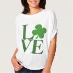Pretty Green Shamrock Love Tee Shirts