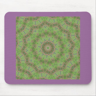 Pretty green spiral fractal design mousepad