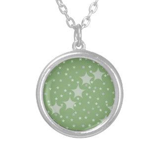 Pretty green star pattern jewelry