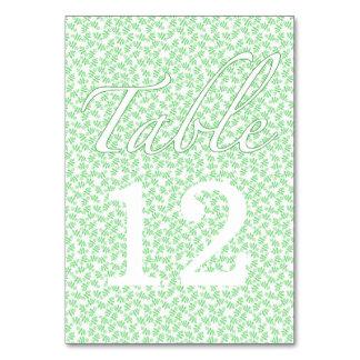 Pretty Green Wedding Table Card