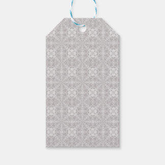 Pretty grey and white design gift tags