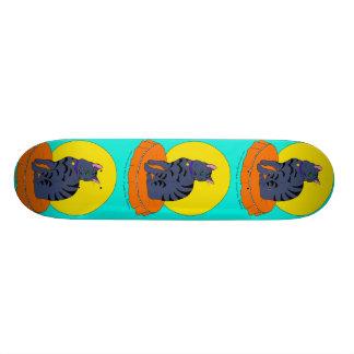 Pretty Grey Kitty Custom Skateboard