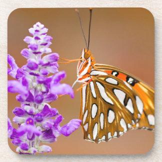Pretty Gulf Fritillary Butterfly Coaster