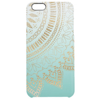 Pretty hand drawn tribal mandala elegant design clear iPhone 6 plus case