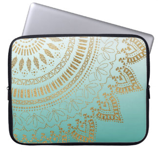Pretty hand drawn tribal mandala elegant design laptop sleeve