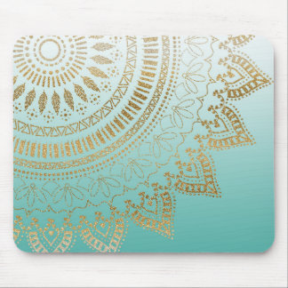 Pretty hand drawn tribal mandala elegant design mouse pad