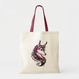 Pretty Hand Drawn Wolf Classic Tote Bag