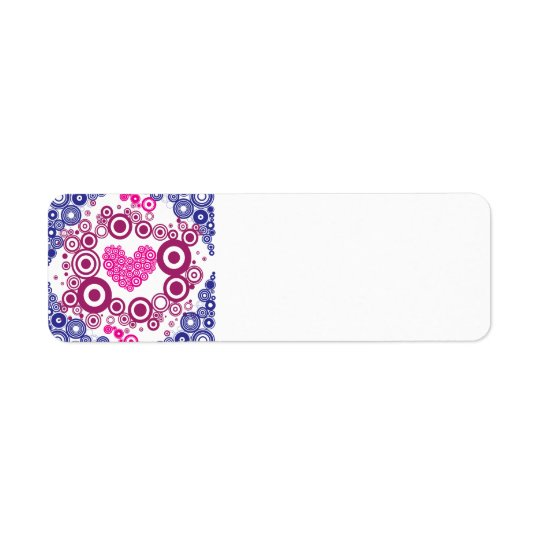 Pretty Heart Concentric Circles Girly Teen Design