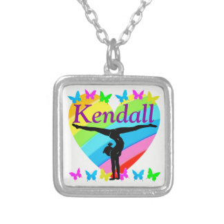 PRETTY HEART I LOVE GYMNASTICS NECKLACE