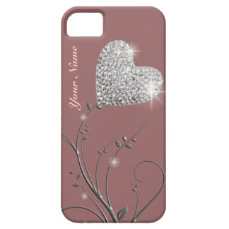 pretty heart jewel flower iPhone 5 covers