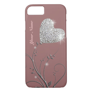 pretty heart jewel flower iPhone 8/7 case