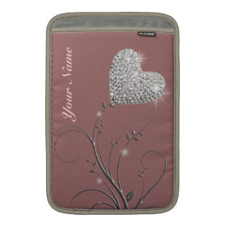 pretty heart jewel flower MacBook air sleeve