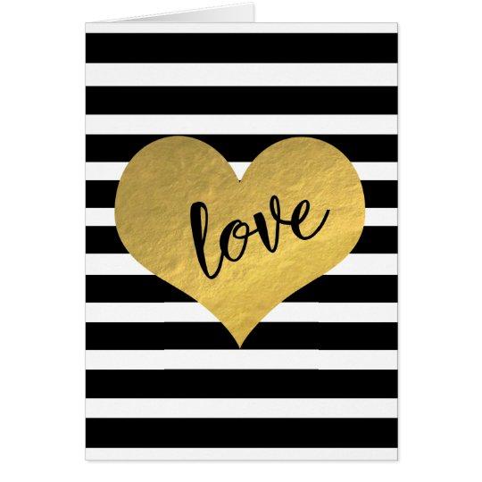 Pretty Heart Love Stripes Card