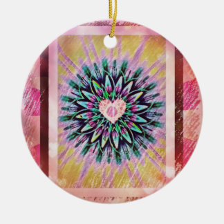 Pretty Heart Mandala Christmas Ornament